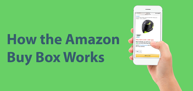 How the Amazon Buy Box Works – image and hand holding iPhone and Amazon app