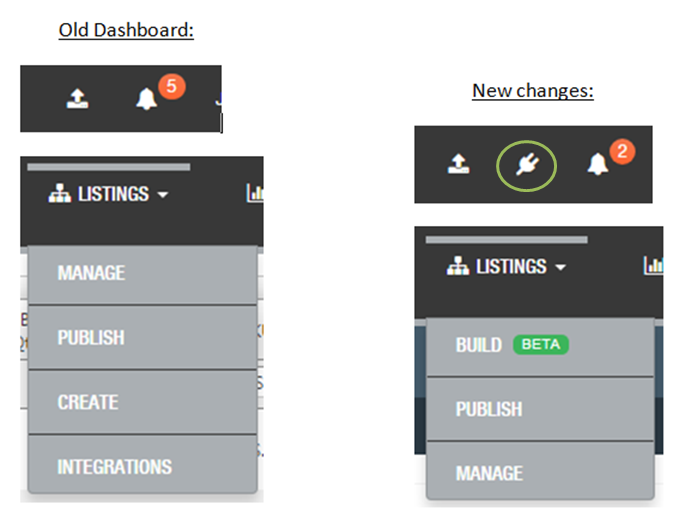 SellerActive Old Dashboard New Dashboard comparison