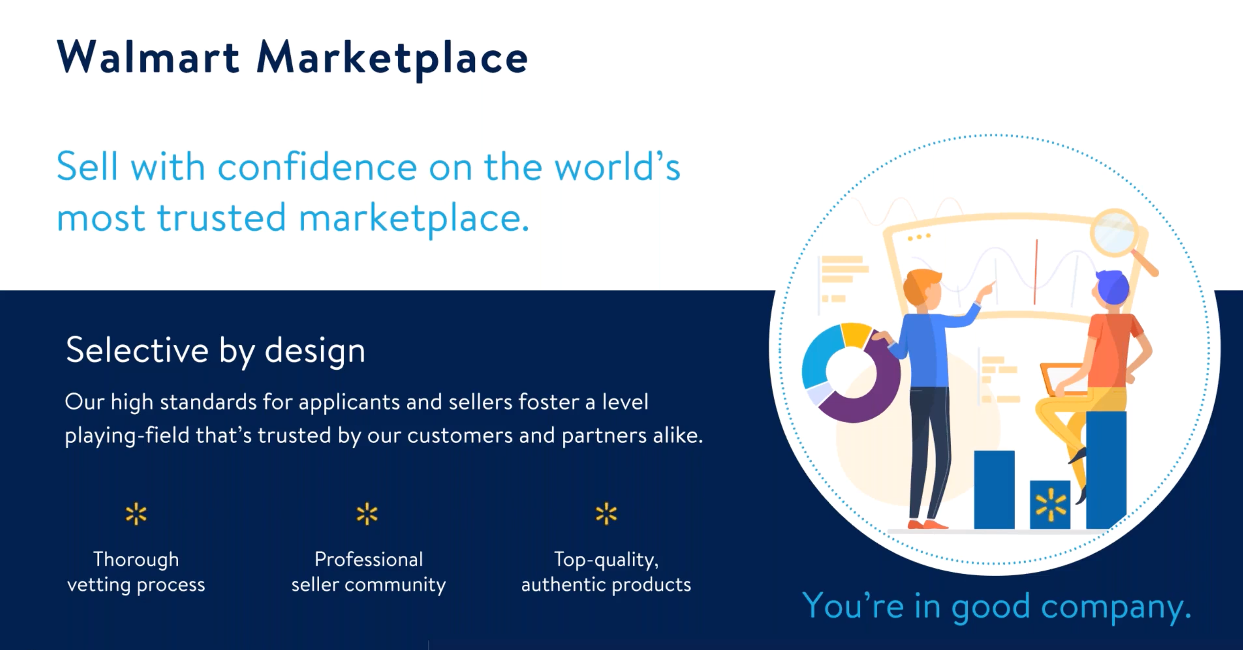 Walmart Marketplace is selective by design