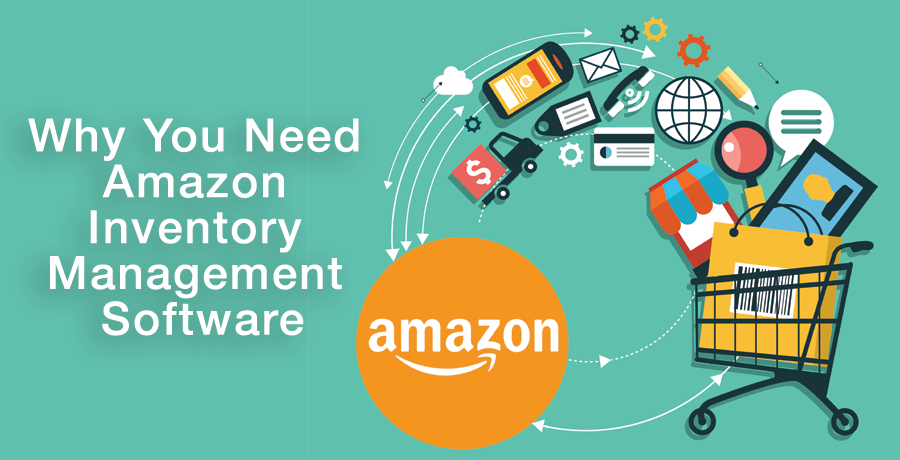 Illustration that depicts how Amazon inventory management software works