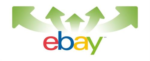 eBay logo with green SellerActive arrows