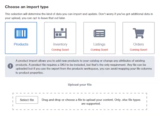 Import Screen