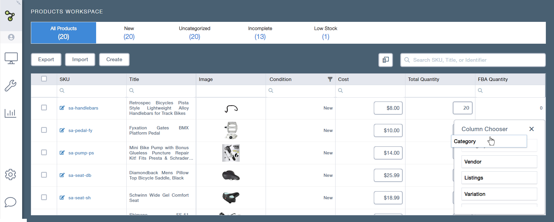 Workspaces – Products and Listings 3